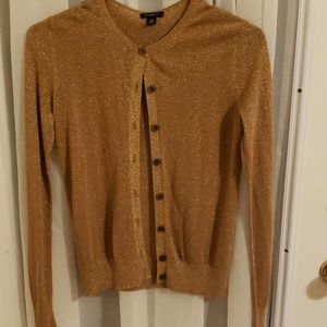 Gold sparkly cardigan